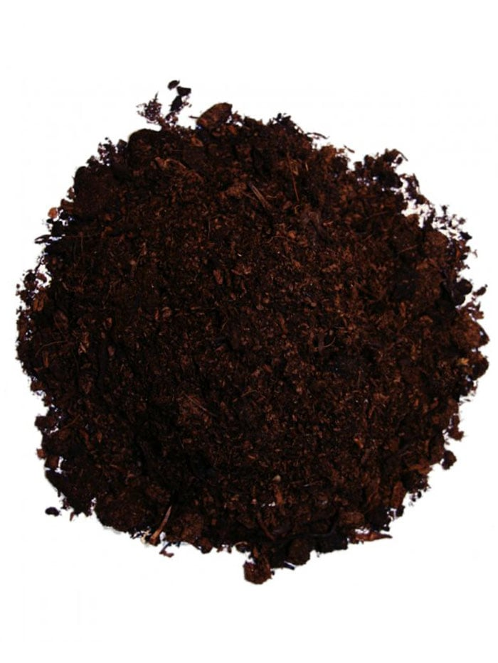Horse manure mixed with topsoil
